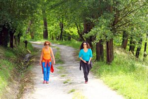 Nikki and Leah on retreat in Tuscany, Italy.