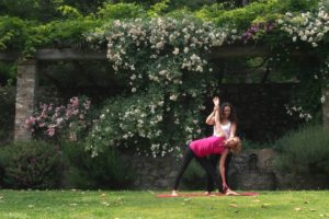 Yoga with Nikki in the Tuscan Garden.
