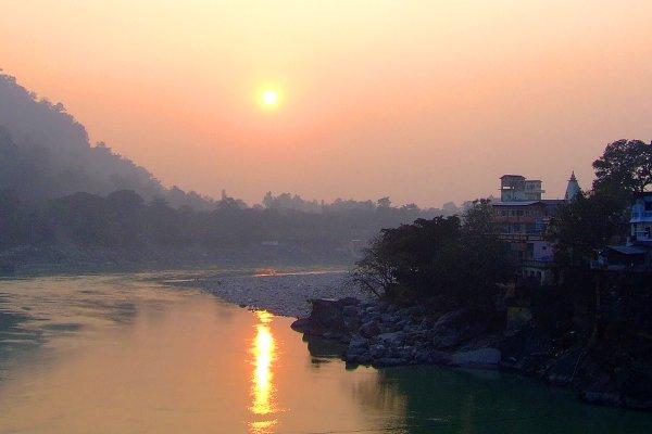 Golden Rishikesh Sunset